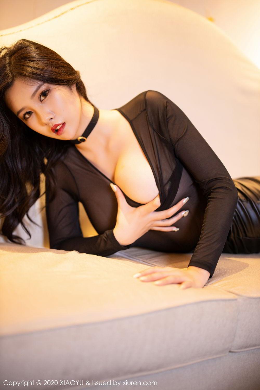 [XiaoYu] Vol.307 Zhou Si Qiao 75P, Black Silk, XiaoYu, Zhou Si Qiao