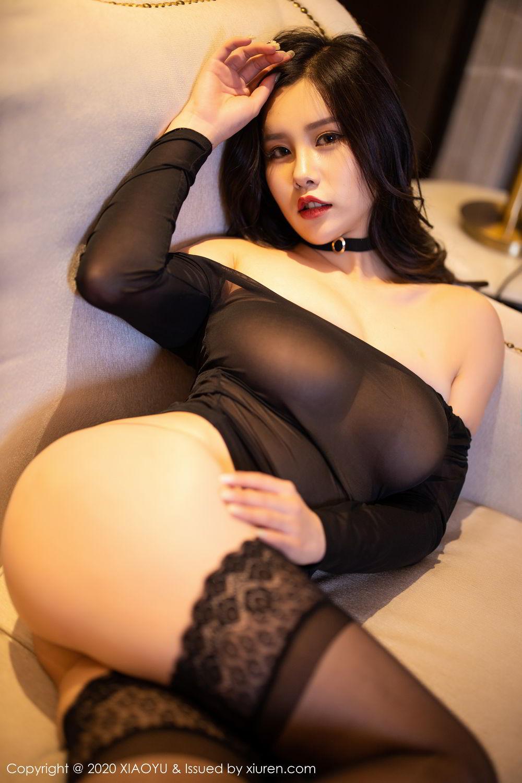 [XiaoYu] Vol.307 Zhou Si Qiao 93P, Black Silk, XiaoYu, Zhou Si Qiao