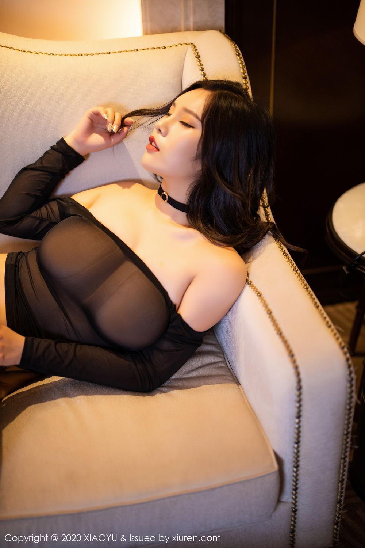 [XiaoYu] Vol.307 Zhou Si Qiao 94P, Black Silk, XiaoYu, Zhou Si Qiao