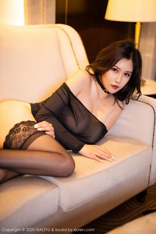 [XiaoYu] Vol.307 Zhou Si Qiao 97P, Black Silk, XiaoYu, Zhou Si Qiao