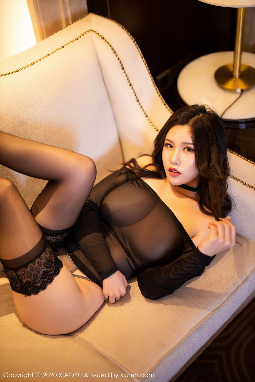 [XiaoYu] Vol.307 Zhou Si Qiao 99P, Black Silk, XiaoYu, Zhou Si Qiao
