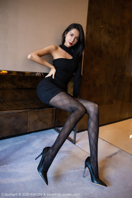 [XiaoYu] Vol.308 Carry 12P, Black Silk, Chen Liang Ling, Tall, Temperament, XiaoYu