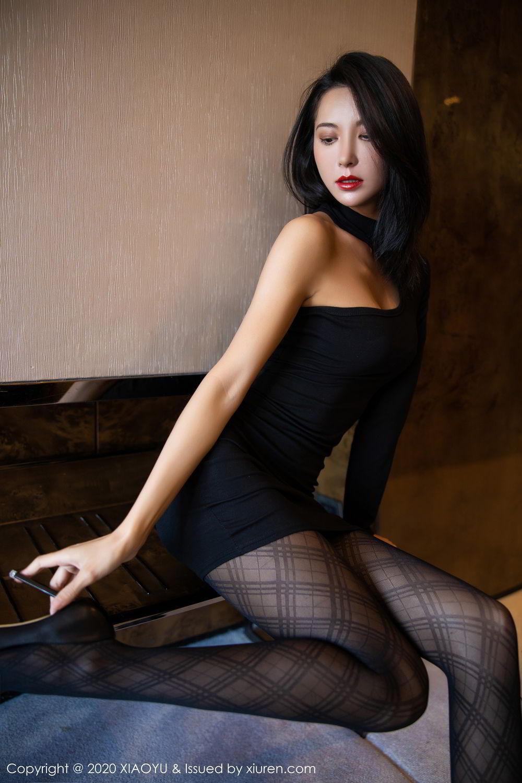 [XiaoYu] Vol.308 Carry 13P, Black Silk, Chen Liang Ling, Tall, Temperament, XiaoYu
