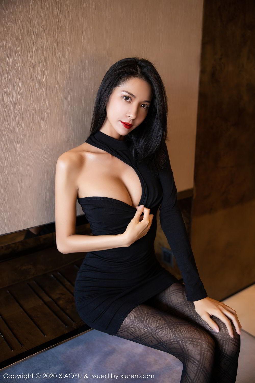 [XiaoYu] Vol.308 Carry 15P, Black Silk, Chen Liang Ling, Tall, Temperament, XiaoYu