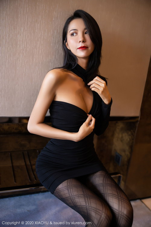 [XiaoYu] Vol.308 Carry 16P, Black Silk, Chen Liang Ling, Tall, Temperament, XiaoYu