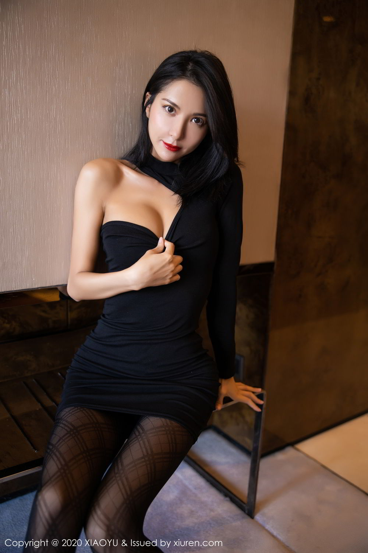 [XiaoYu] Vol.308 Carry 17P, Black Silk, Chen Liang Ling, Tall, Temperament, XiaoYu