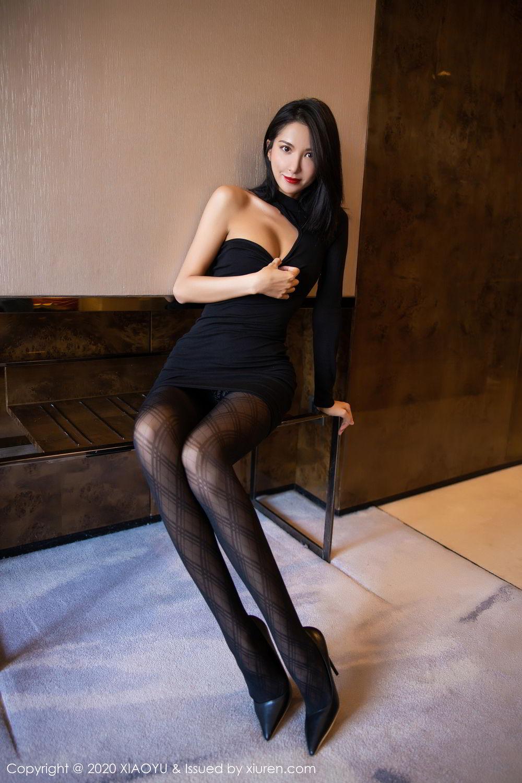 [XiaoYu] Vol.308 Carry 18P, Black Silk, Chen Liang Ling, Tall, Temperament, XiaoYu