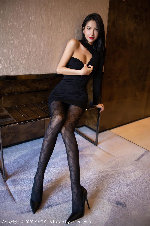 [XiaoYu] Vol.308 Carry 19P, Black Silk, Chen Liang Ling, Tall, Temperament, XiaoYu
