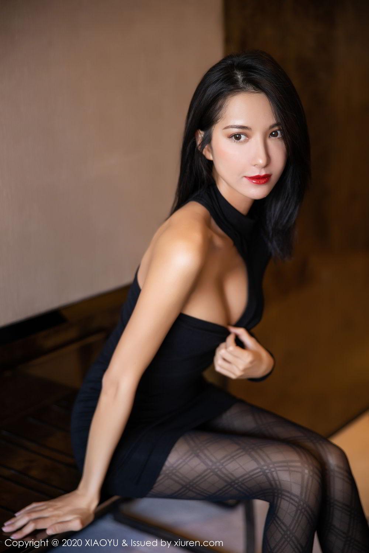 [XiaoYu] Vol.308 Carry 20P, Black Silk, Chen Liang Ling, Tall, Temperament, XiaoYu
