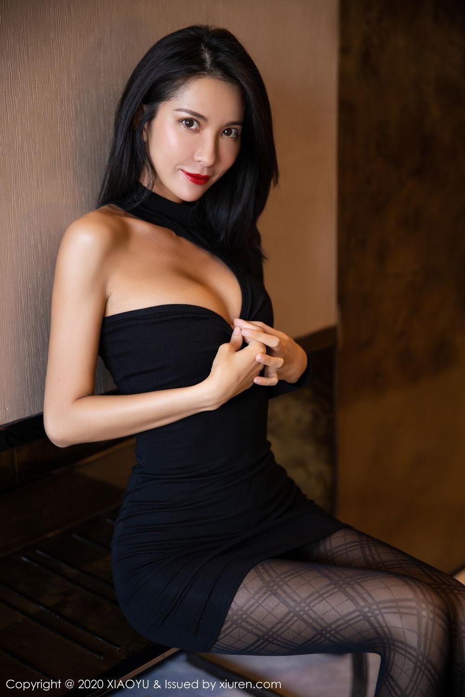[XiaoYu] Vol.308 Carry 21P, Black Silk, Chen Liang Ling, Tall, Temperament, XiaoYu