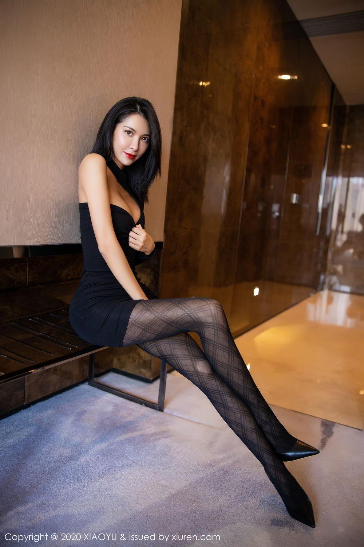 [XiaoYu] Vol.308 Carry 22P, Black Silk, Chen Liang Ling, Tall, Temperament, XiaoYu