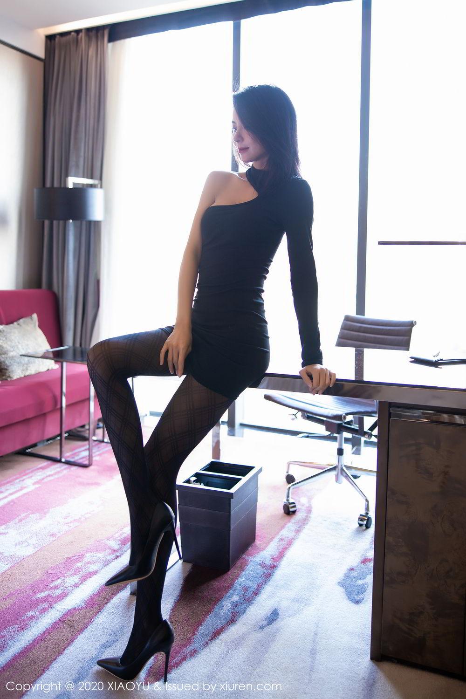 [XiaoYu] Vol.308 Carry 23P, Black Silk, Chen Liang Ling, Tall, Temperament, XiaoYu