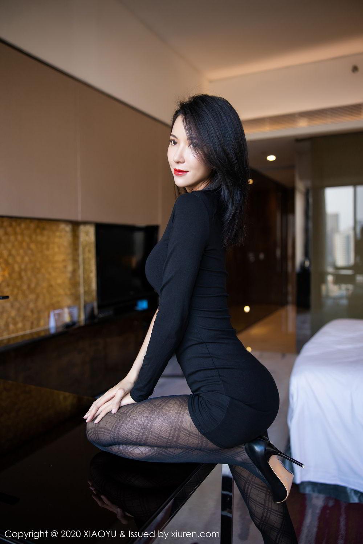 [XiaoYu] Vol.308 Carry 28P, Black Silk, Chen Liang Ling, Tall, Temperament, XiaoYu