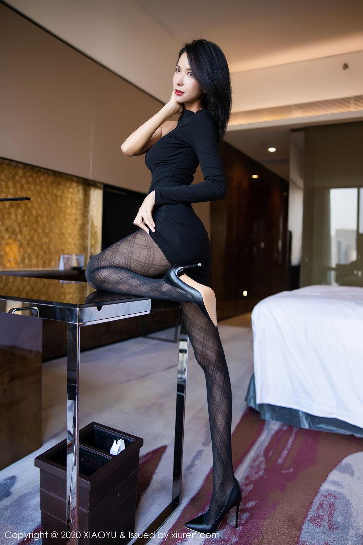 [XiaoYu] Vol.308 Carry 29P, Black Silk, Chen Liang Ling, Tall, Temperament, XiaoYu