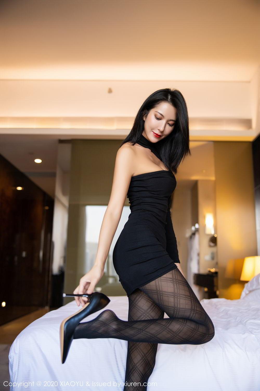 [XiaoYu] Vol.308 Carry 33P, Black Silk, Chen Liang Ling, Tall, Temperament, XiaoYu