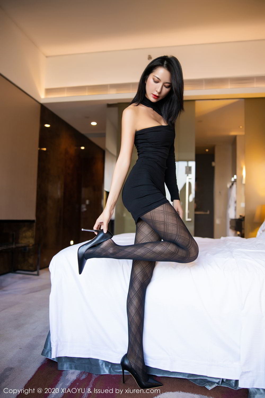 [XiaoYu] Vol.308 Carry 34P, Black Silk, Chen Liang Ling, Tall, Temperament, XiaoYu