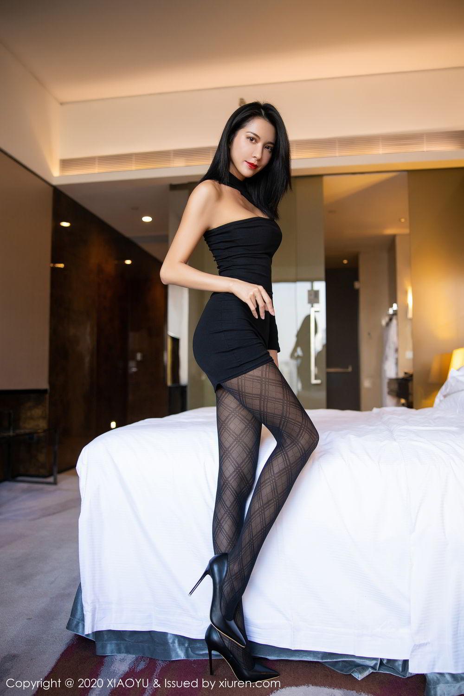 [XiaoYu] Vol.308 Carry 35P, Black Silk, Chen Liang Ling, Tall, Temperament, XiaoYu