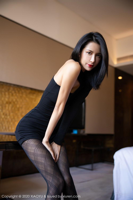 [XiaoYu] Vol.308 Carry 37P, Black Silk, Chen Liang Ling, Tall, Temperament, XiaoYu