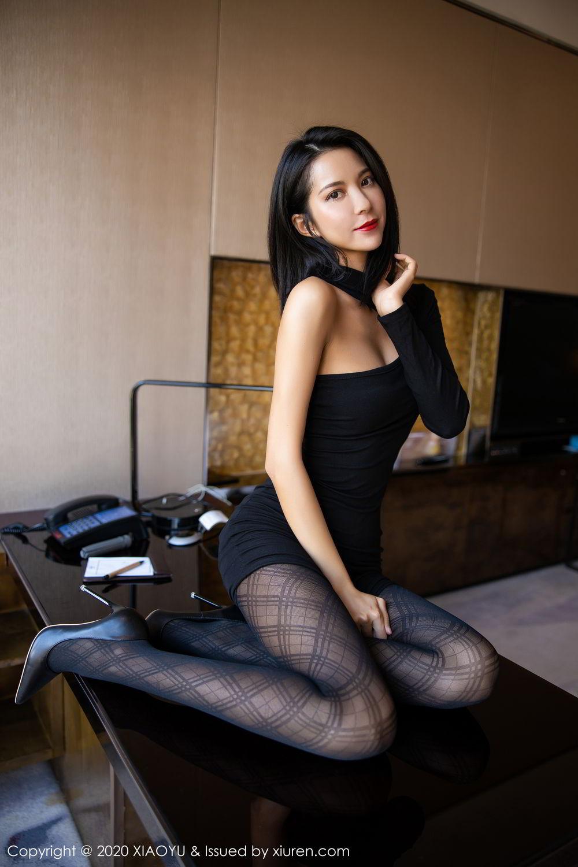 [XiaoYu] Vol.308 Carry 3P, Black Silk, Chen Liang Ling, Tall, Temperament, XiaoYu