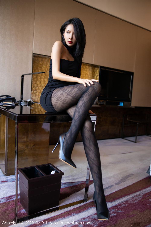 [XiaoYu] Vol.308 Carry 40P, Black Silk, Chen Liang Ling, Tall, Temperament, XiaoYu