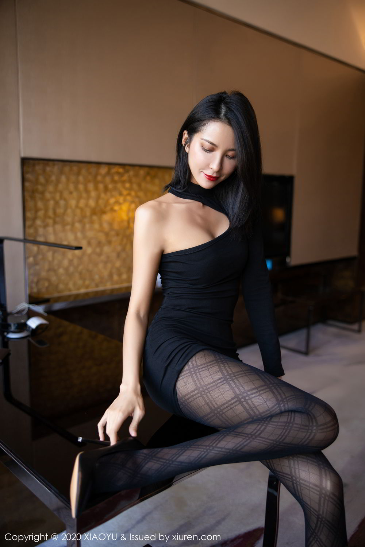 [XiaoYu] Vol.308 Carry 41P, Black Silk, Chen Liang Ling, Tall, Temperament, XiaoYu