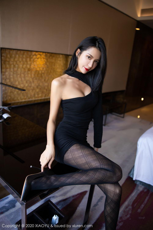 [XiaoYu] Vol.308 Carry 42P, Black Silk, Chen Liang Ling, Tall, Temperament, XiaoYu