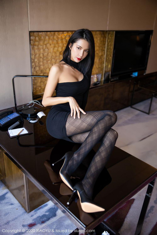 [XiaoYu] Vol.308 Carry 46P, Black Silk, Chen Liang Ling, Tall, Temperament, XiaoYu