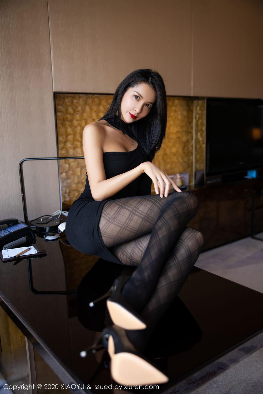 [XiaoYu] Vol.308 Carry 48P, Black Silk, Chen Liang Ling, Tall, Temperament, XiaoYu