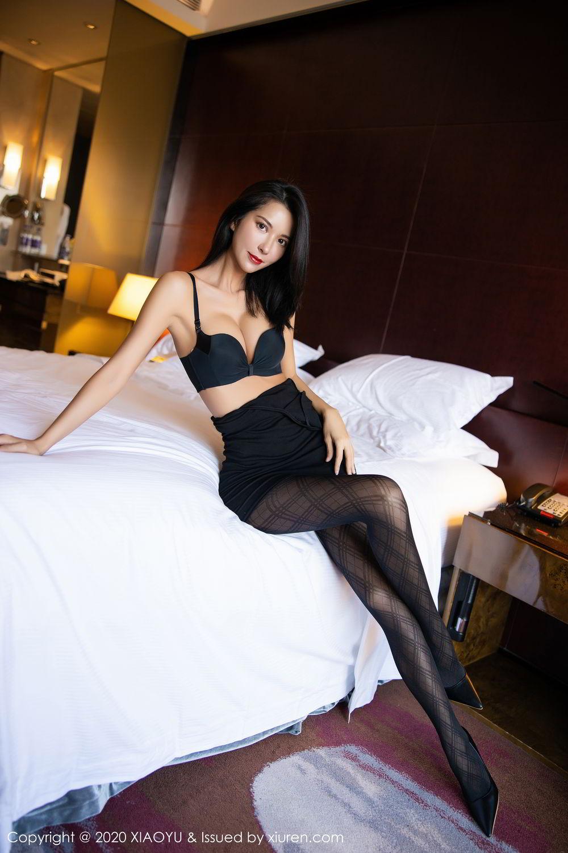[XiaoYu] Vol.308 Carry 4P, Black Silk, Chen Liang Ling, Tall, Temperament, XiaoYu
