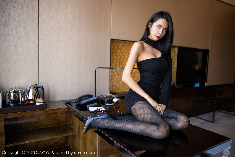 [XiaoYu] Vol.308 Carry 51P, Black Silk, Chen Liang Ling, Tall, Temperament, XiaoYu
