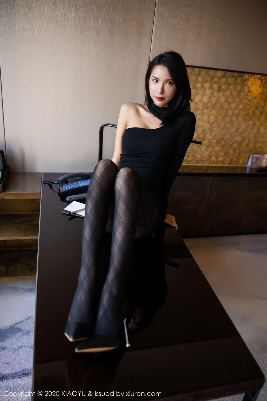 [XiaoYu] Vol.308 Carry 54P, Black Silk, Chen Liang Ling, Tall, Temperament, XiaoYu