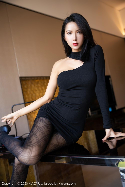 [XiaoYu] Vol.308 Carry 55P, Black Silk, Chen Liang Ling, Tall, Temperament, XiaoYu