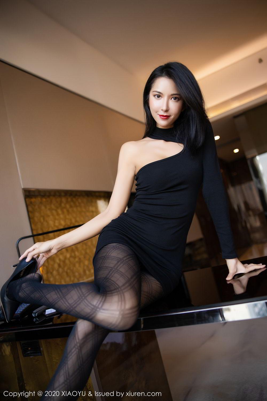 [XiaoYu] Vol.308 Carry 56P, Black Silk, Chen Liang Ling, Tall, Temperament, XiaoYu