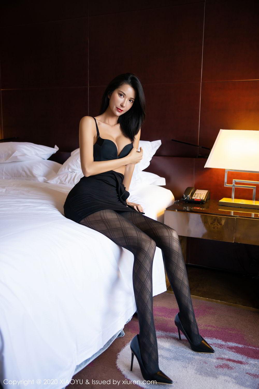 [XiaoYu] Vol.308 Carry 57P, Black Silk, Chen Liang Ling, Tall, Temperament, XiaoYu