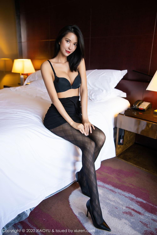[XiaoYu] Vol.308 Carry 59P, Black Silk, Chen Liang Ling, Tall, Temperament, XiaoYu