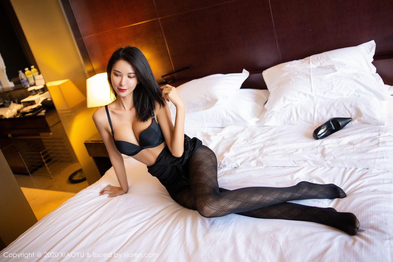 [XiaoYu] Vol.308 Carry 5P, Black Silk, Chen Liang Ling, Tall, Temperament, XiaoYu