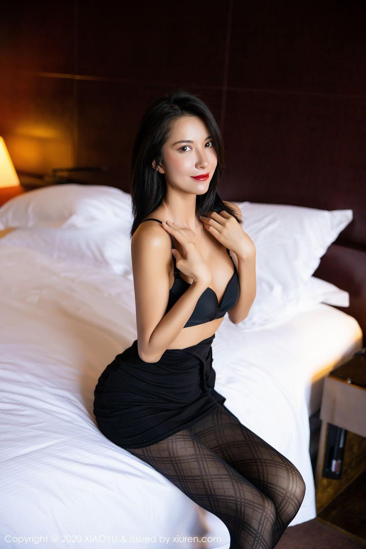 [XiaoYu] Vol.308 Carry 60P, Black Silk, Chen Liang Ling, Tall, Temperament, XiaoYu