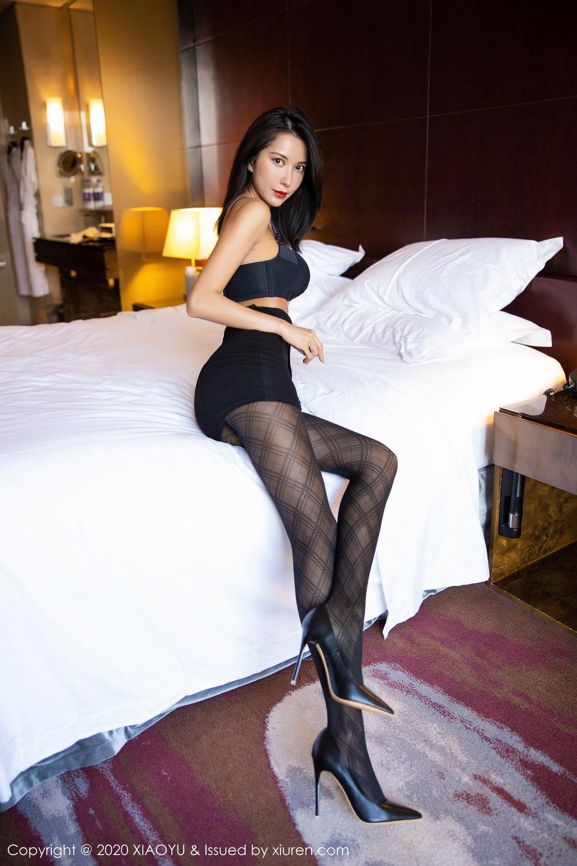 [XiaoYu] Vol.308 Carry 63P, Black Silk, Chen Liang Ling, Tall, Temperament, XiaoYu