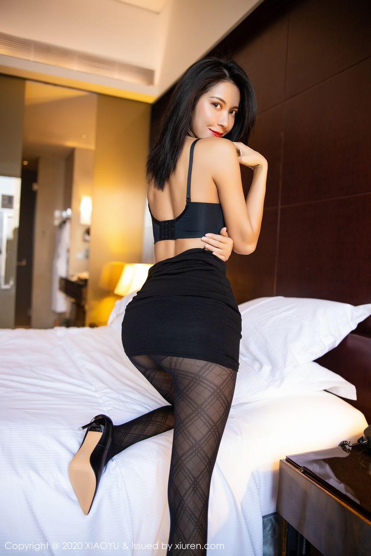 [XiaoYu] Vol.308 Carry 66P, Black Silk, Chen Liang Ling, Tall, Temperament, XiaoYu