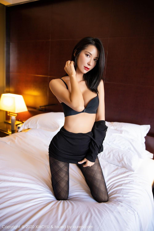 [XiaoYu] Vol.308 Carry 67P, Black Silk, Chen Liang Ling, Tall, Temperament, XiaoYu