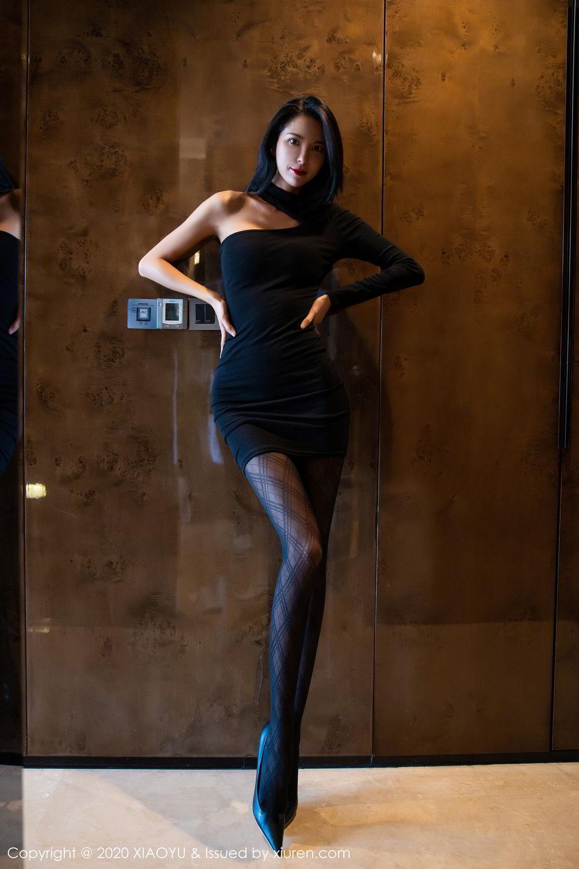[XiaoYu] Vol.308 Carry 6P, Black Silk, Chen Liang Ling, Tall, Temperament, XiaoYu