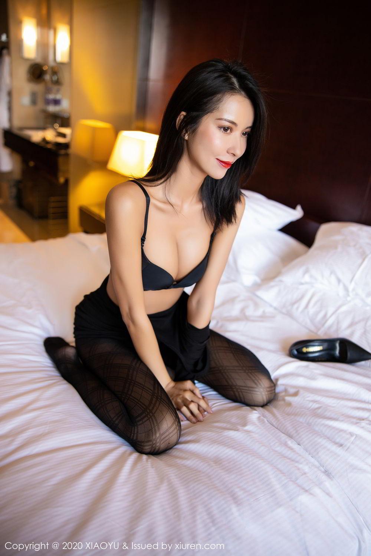 [XiaoYu] Vol.308 Carry 70P, Black Silk, Chen Liang Ling, Tall, Temperament, XiaoYu
