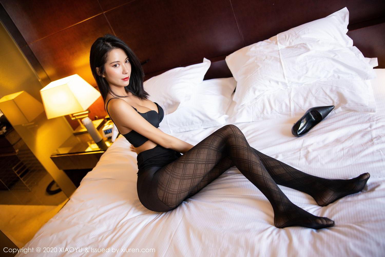 [XiaoYu] Vol.308 Carry 75P, Black Silk, Chen Liang Ling, Tall, Temperament, XiaoYu