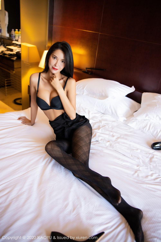 [XiaoYu] Vol.308 Carry 80P, Black Silk, Chen Liang Ling, Tall, Temperament, XiaoYu