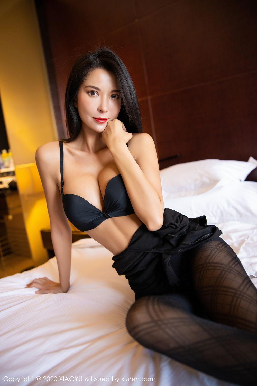[XiaoYu] Vol.308 Carry 81P, Black Silk, Chen Liang Ling, Tall, Temperament, XiaoYu