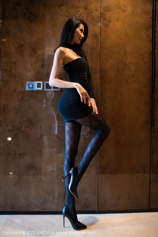 [XiaoYu] Vol.308 Carry 8P, Black Silk, Chen Liang Ling, Tall, Temperament, XiaoYu
