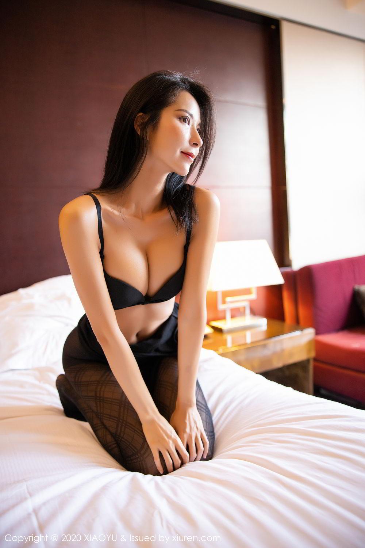 [XiaoYu] Vol.308 Carry 90P, Black Silk, Chen Liang Ling, Tall, Temperament, XiaoYu