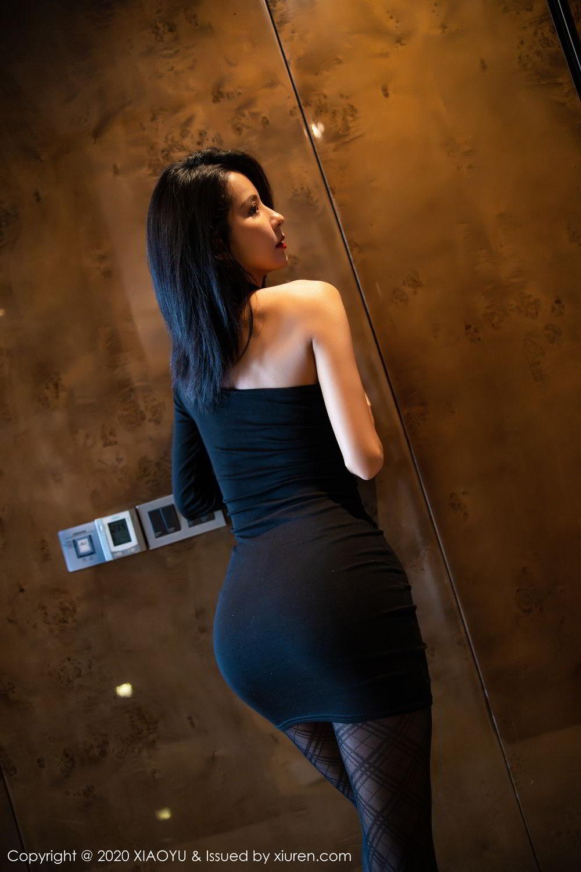 [XiaoYu] Vol.308 Carry 9P, Black Silk, Chen Liang Ling, Tall, Temperament, XiaoYu