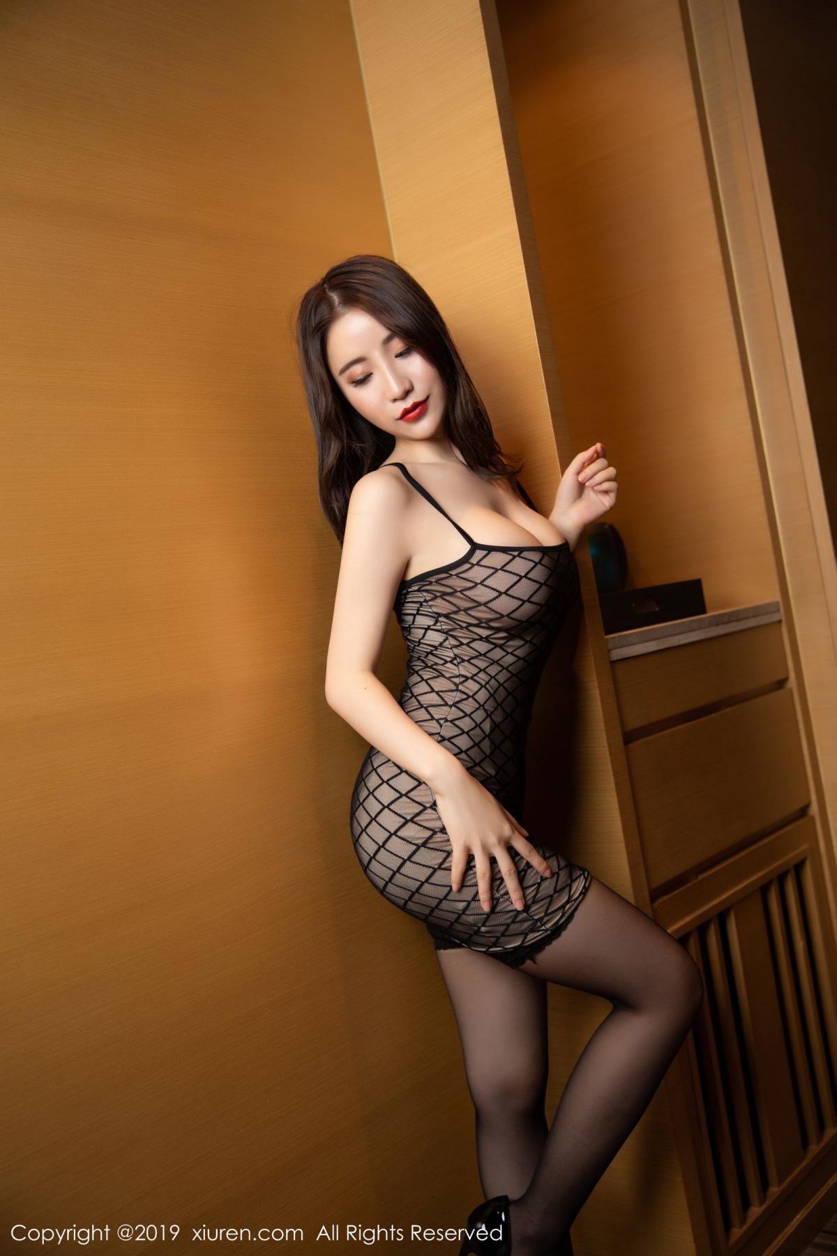[XiuRen] Vol.1489 Xie Zhi Xin 10P, Black Silk, Tall, Xie Zhi Xin, Xiuren