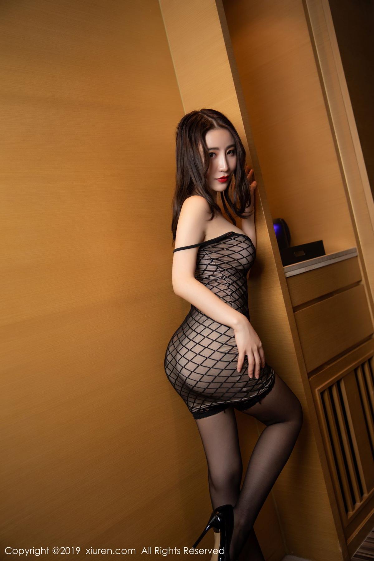 [XiuRen] Vol.1489 Xie Zhi Xin 12P, Black Silk, Tall, Xie Zhi Xin, Xiuren